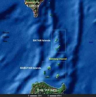 A map of the Batanes and Babuyan Islands, with the Balintang Channel between them. (Source: www.malapascua.de)
