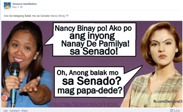 Nancy and Senyora Santibañez (https://www.facebook.com/SenyoraOfficial)