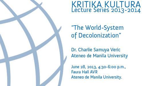 Kritika Kultura Lecture Series