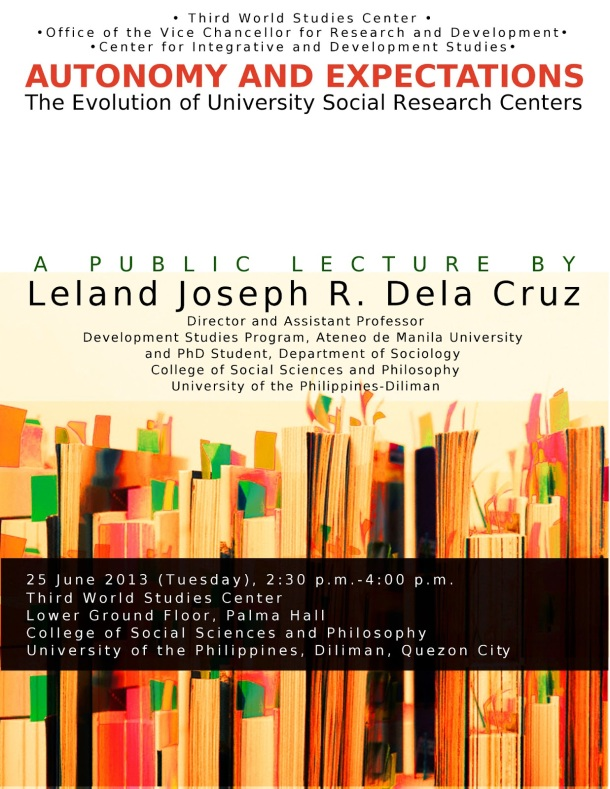 Autonomy and Expectations: The Evolution of University Social Research Centers