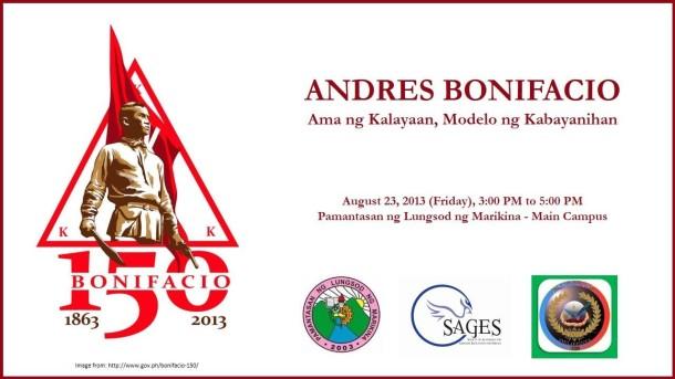 Andres Bonifacio: Ama ng Kalayaan, Modelo ng Kabayanihan