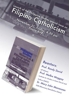 In the Pipeline: Launch of Philippine Studies Special Issue on Filipino Catholicism